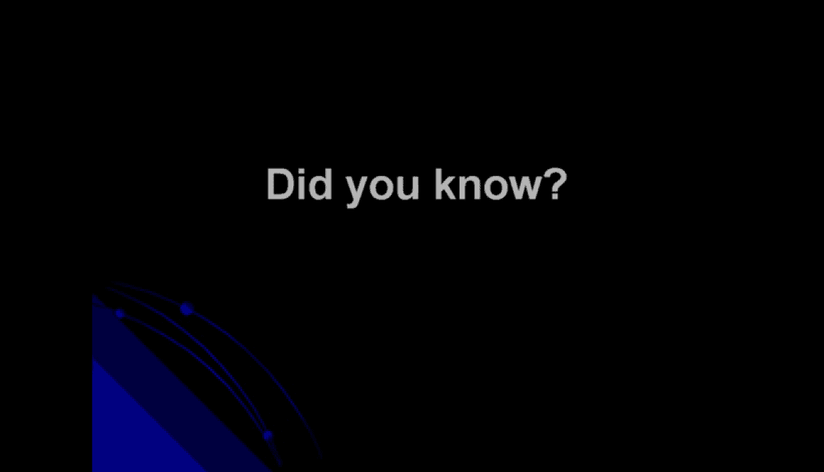 Did You Know? (V2.0)