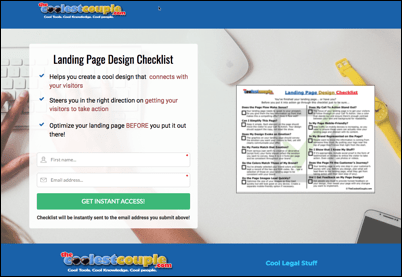 Landing Page Opt-In